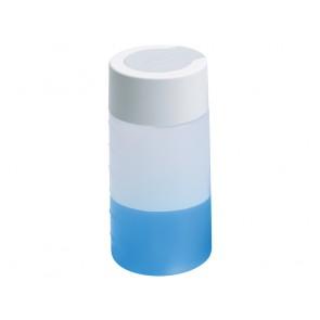 Kunststoffflasche (piezo smart), mit Flaschendeckel komplett, grau, 300 ml