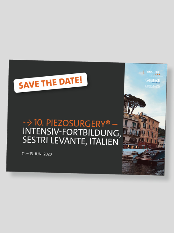 Save-the-date 10. PIEZOSURGERY® - Intensiv-Fortbildung, Sestri Levante, Italien